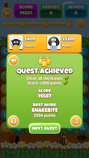 WordBuzz: The Honey Quest screenshot