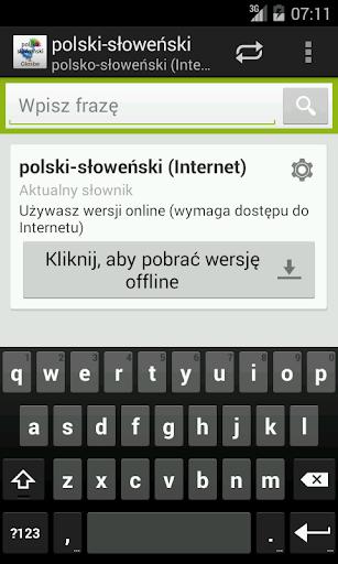 Polsko-Słoweński słownik
