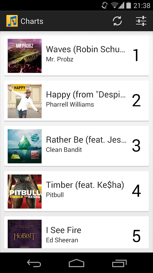Music Charts - screenshot