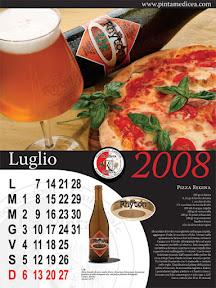 Pizza Regina sulla pagina di Luglio del Calendario della Pinta medicea 2008