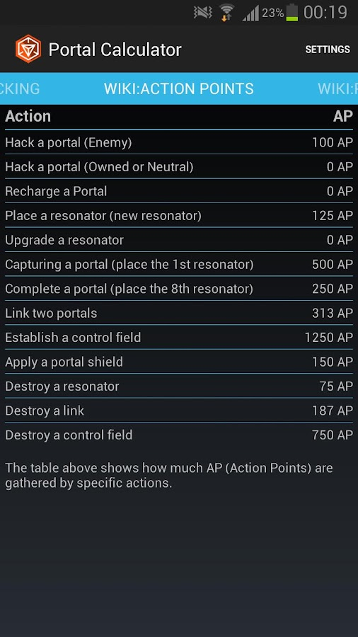 Ingress Portal Calculator - screenshot