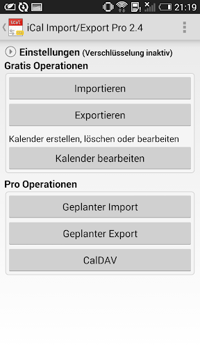 iCal Import Export CalDAV Pro