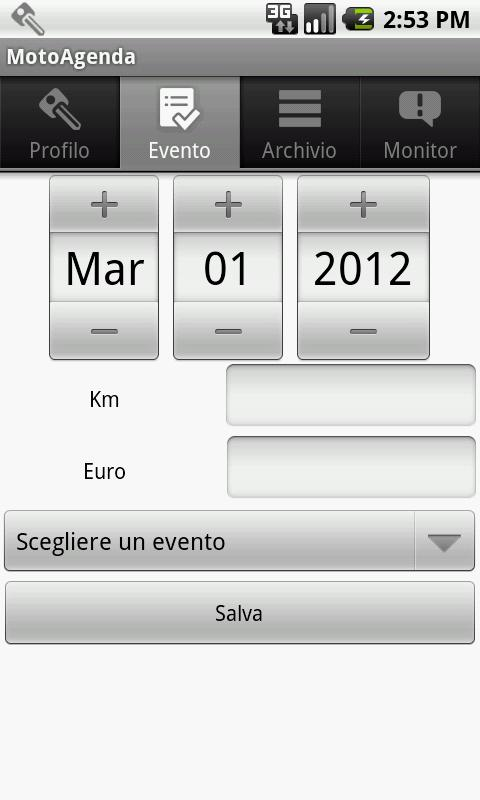 MotoAgenda- screenshot