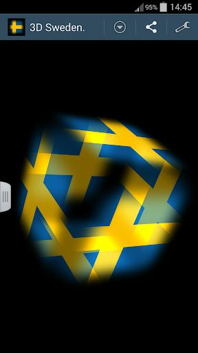 3D Sweden Cube Flag LWP