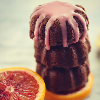 Mini Blood Orange Scented Chocolate-Ricotta Cakes