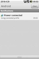 Screenshot of Bluetooth Power Profile