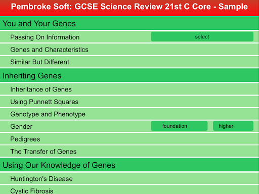 Sample 21st Cent. Core Review