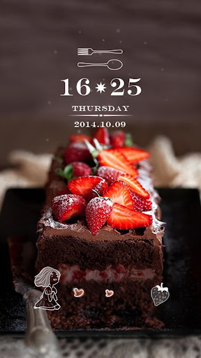 草莓甜心动态锁屏壁纸