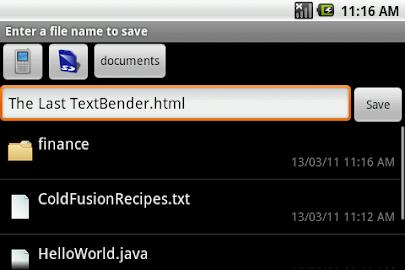 TextWarrior Screenshot 3