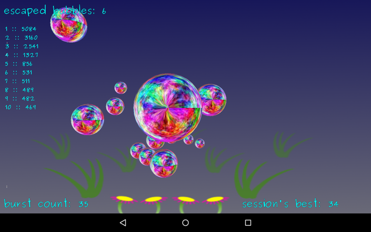 Bubbles In A Cage- screenshot