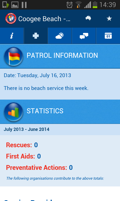 Beachsafe - screenshot