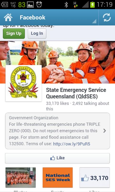 QLD SES- screenshot