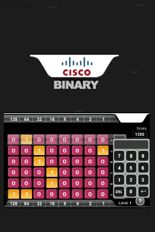 Cisco Binary Game - tablet - screenshot