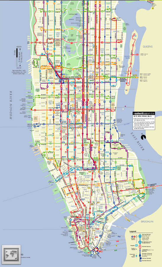Subway Map Of Manhattan