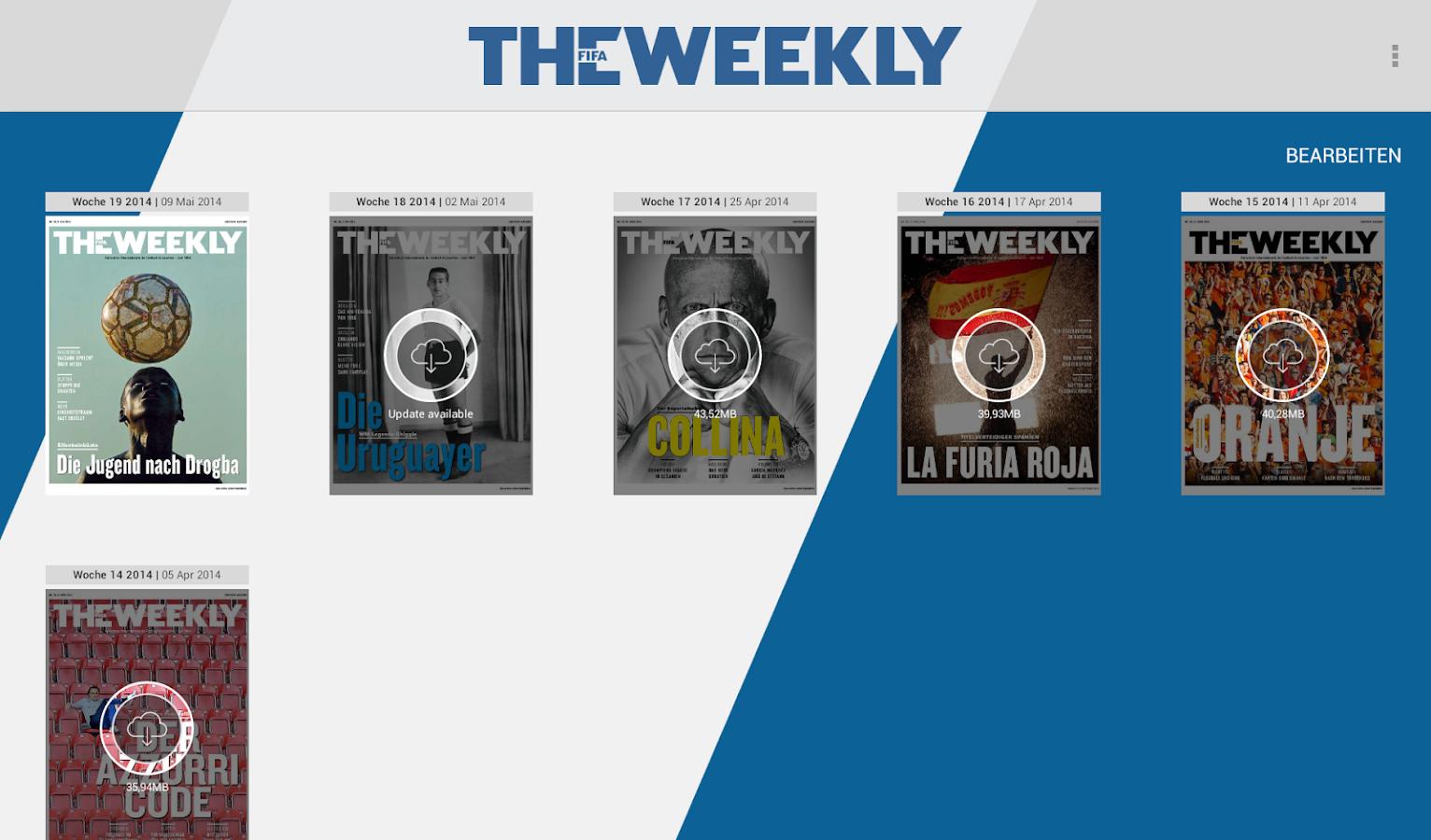 The FIFA Weekly (Tablets)- screenshot