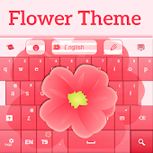 Keyboard Flower Theme Free