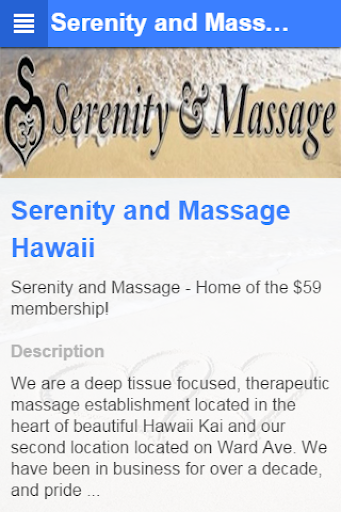 Serenity and Massage