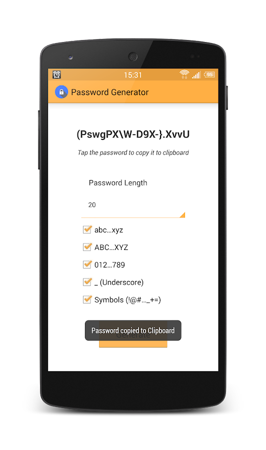 Secure Password Generator- screenshot