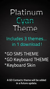 GO SMS Platinum Cyan Theme - screenshot thumbnail