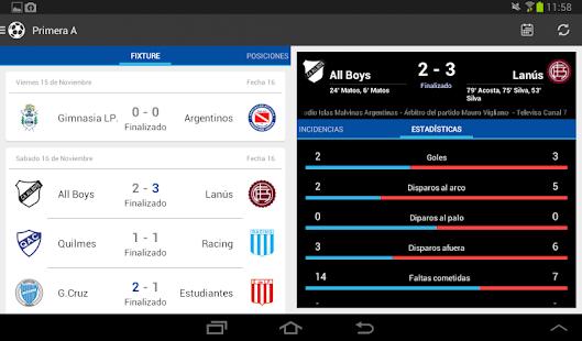 Liga Argentina de Fútbol Screenshot 18