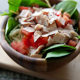 Turkey, Cheese & Tomato Spinach Salad