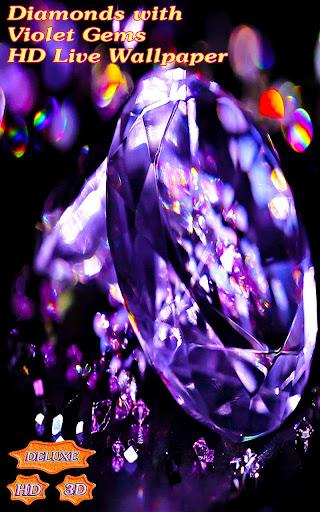 Diamonds with Violet Rich Gems