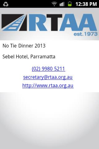 Australasian Association App- screenshot