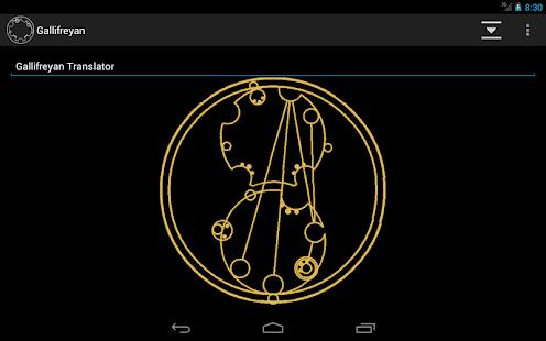 Gallifreyan Translator - screenshot thumbnail