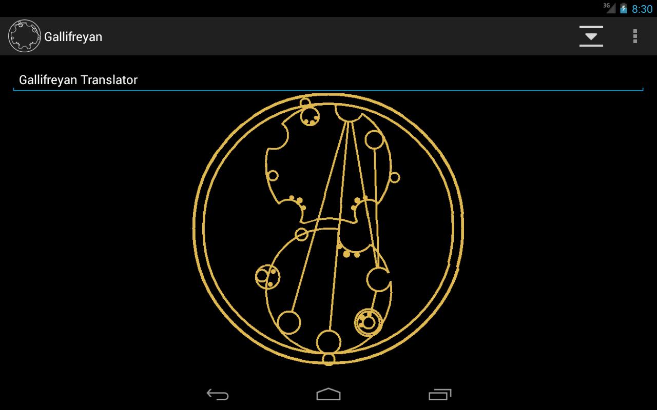 Gallifreyan Translator - screenshot