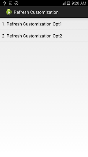 Refresh Customization
