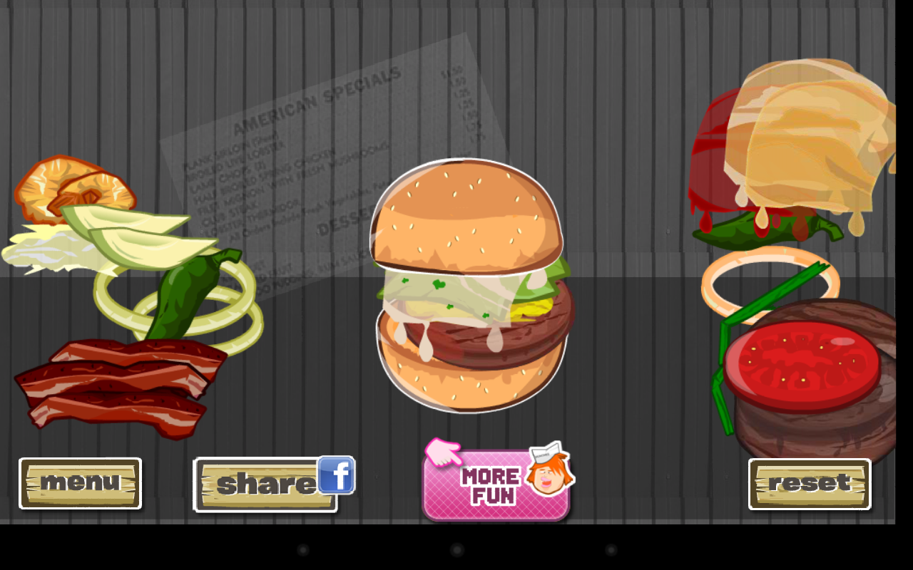 Hamburger Designer- screenshot