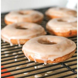 Cinnamon Bun Donuts with Vanilla Glaze
