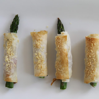 Asparagus with Serrano, Manchego, Phyllo...and oh yes Butter!.