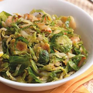 Sautéed Brussels Sprouts with Caraway & Lemon