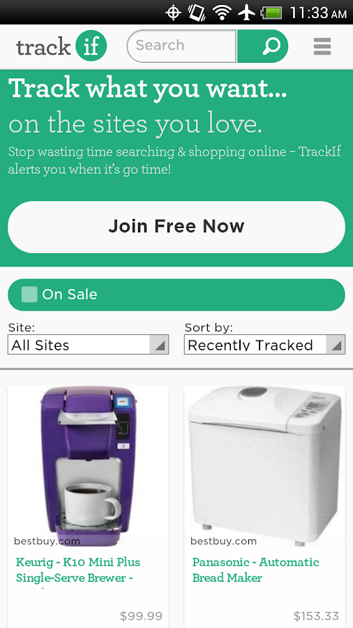 TrackIf- screenshot