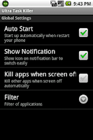 Screenshot of Ultra Task Killer