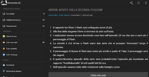 Arrow Italia News - screenshot thumbnail