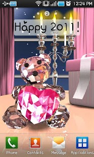 Crystal Bear LiveWall& Clock - screenshot thumbnail