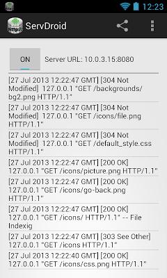 ServDroid.web - screenshot