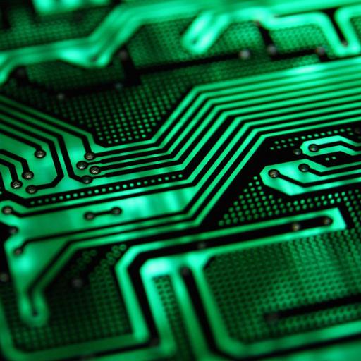 霓虹燈綠色電子主題 個人化 App LOGO-硬是要APP