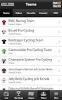 Screenshot of USA Pro Challenge Tour Tracker