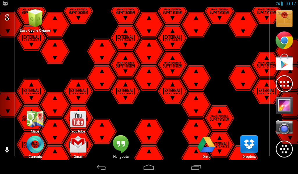 Hexagon Battery Indicator LWP- screenshot