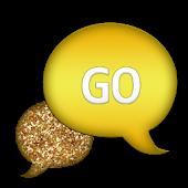 GO SMS - Gold Glitter 2