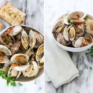 Mussels and Littleneck Clams Table and Dish.