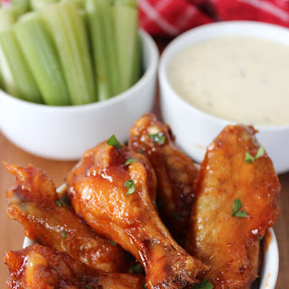 Baked Honey Chipotle Chicken Wings.