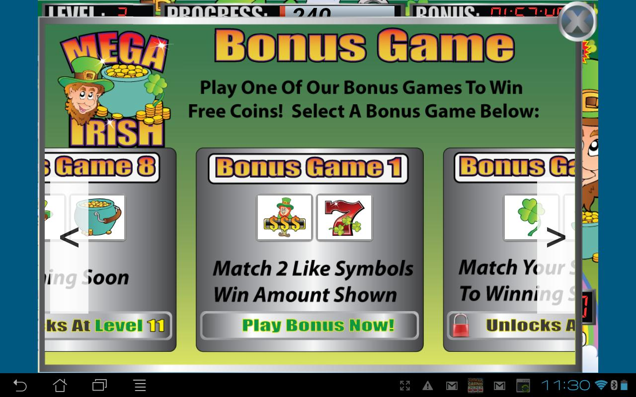 Mega Irish Slot Machine- screenshot