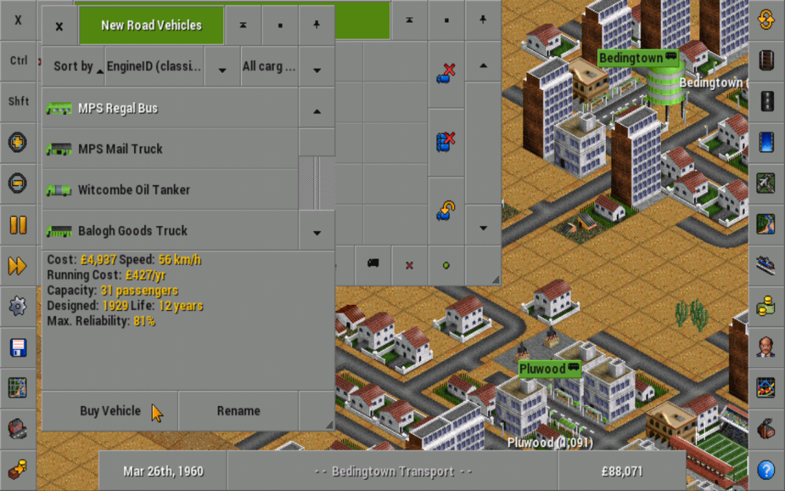 OpenTTD - screenshot