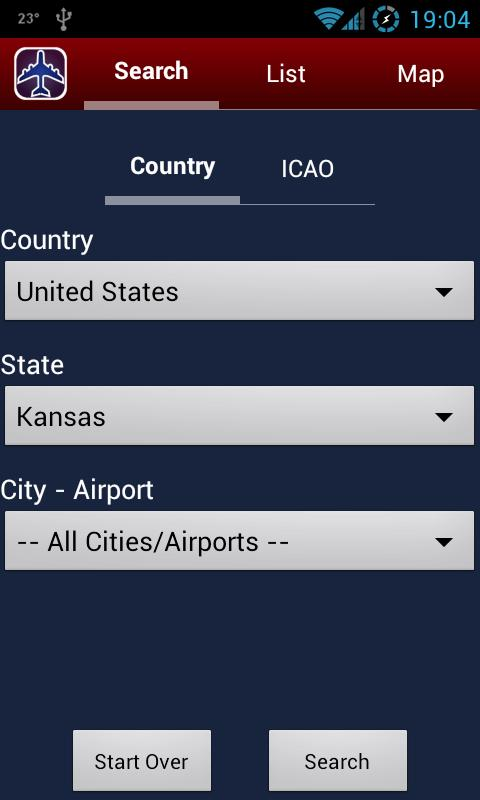 AIR Card® FBO Locator - screenshot
