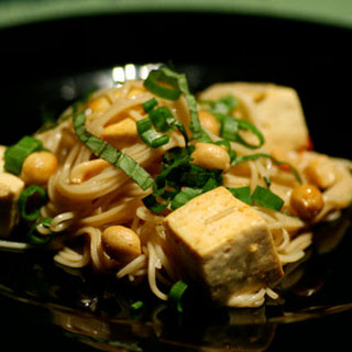 Sesame Noodles with Peanuts and Basil.