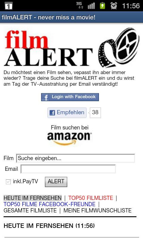 filmALERT   & Fernsehprogramm- screenshot